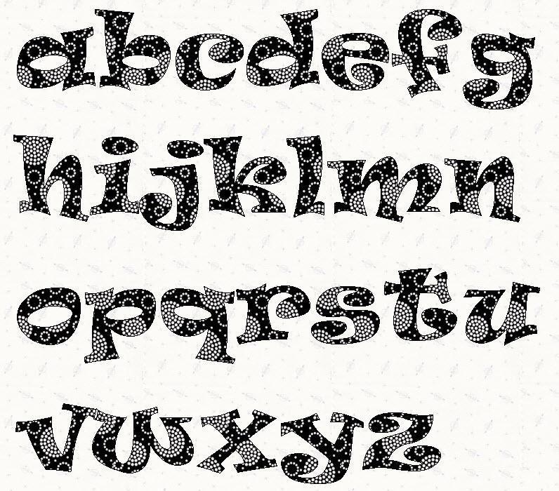 Stencil Block Letter Font