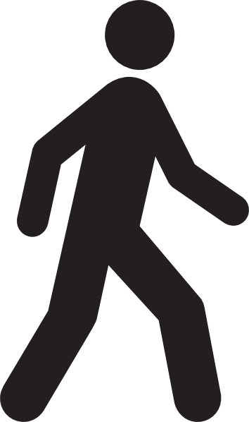 18 Vector Human Walking Icon Images