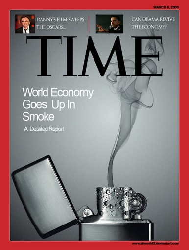 Time Magazine Cover Template PSD