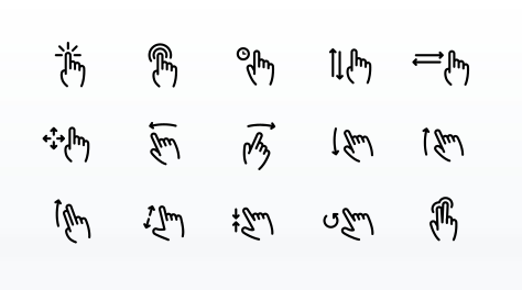 Touch Gesture Icons Free