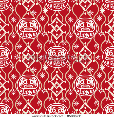 9 Japanese Seamless Patterns Vector Images