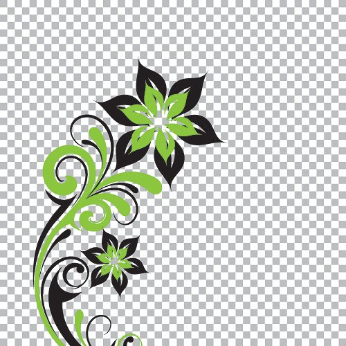 18 Transparent Floral Vector Images