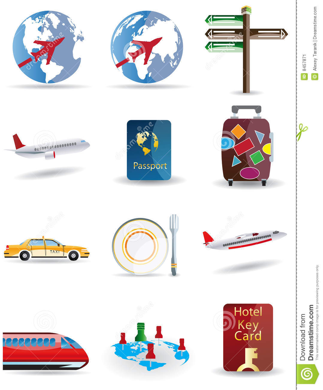 Travel Globe Icon Vector