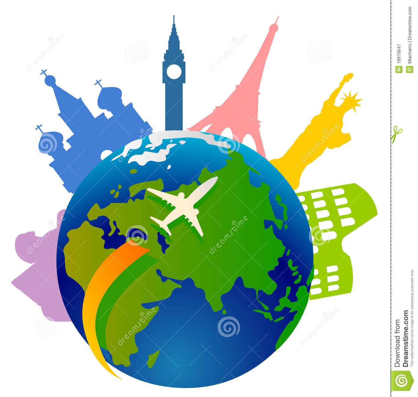Traveling around the World Clip Art
