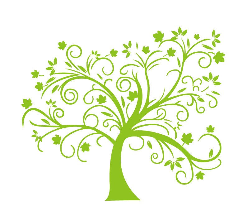 10 Green Tree Vector Images