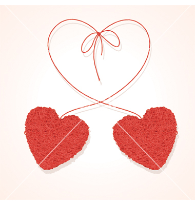 Two Hearts Vector Art