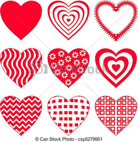 Valentine Heart Clip Art Vector