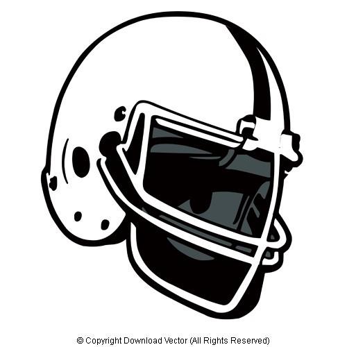 Vector Football Helmet Clip Art