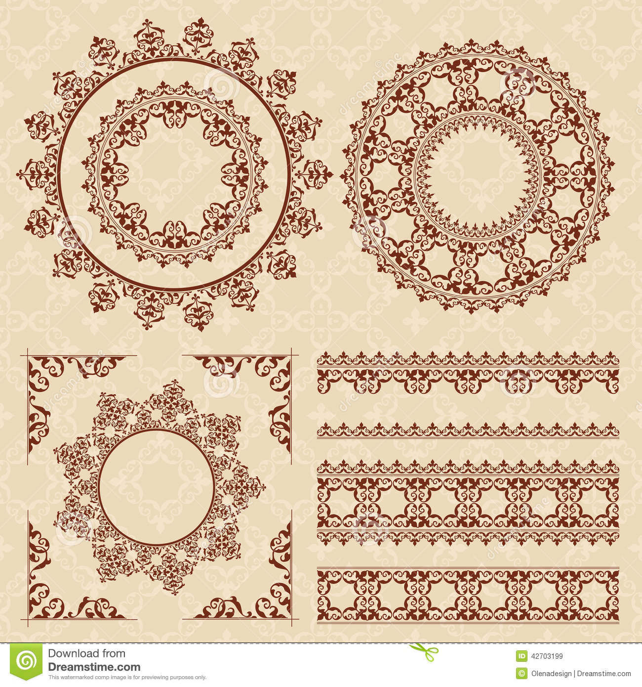 Vector Frames and Ornaments