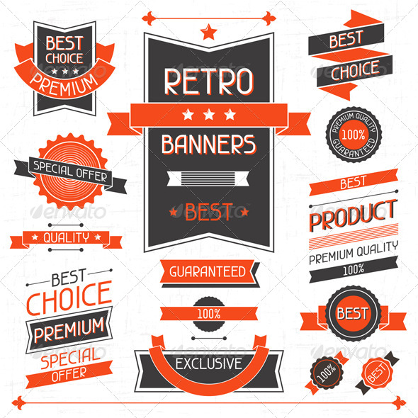 Vector Retro Banners