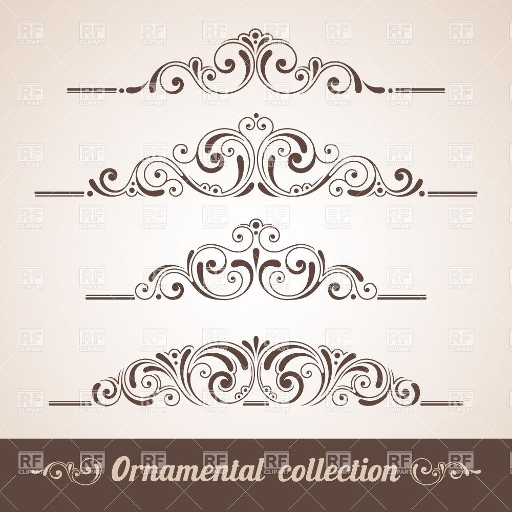 Vintage Design Vector Ornaments