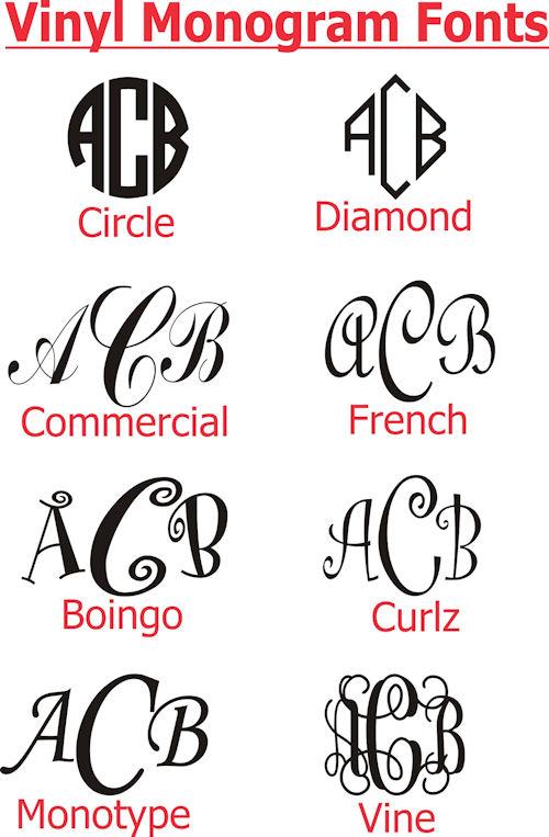 Vinyl Monogram Letters Fonts