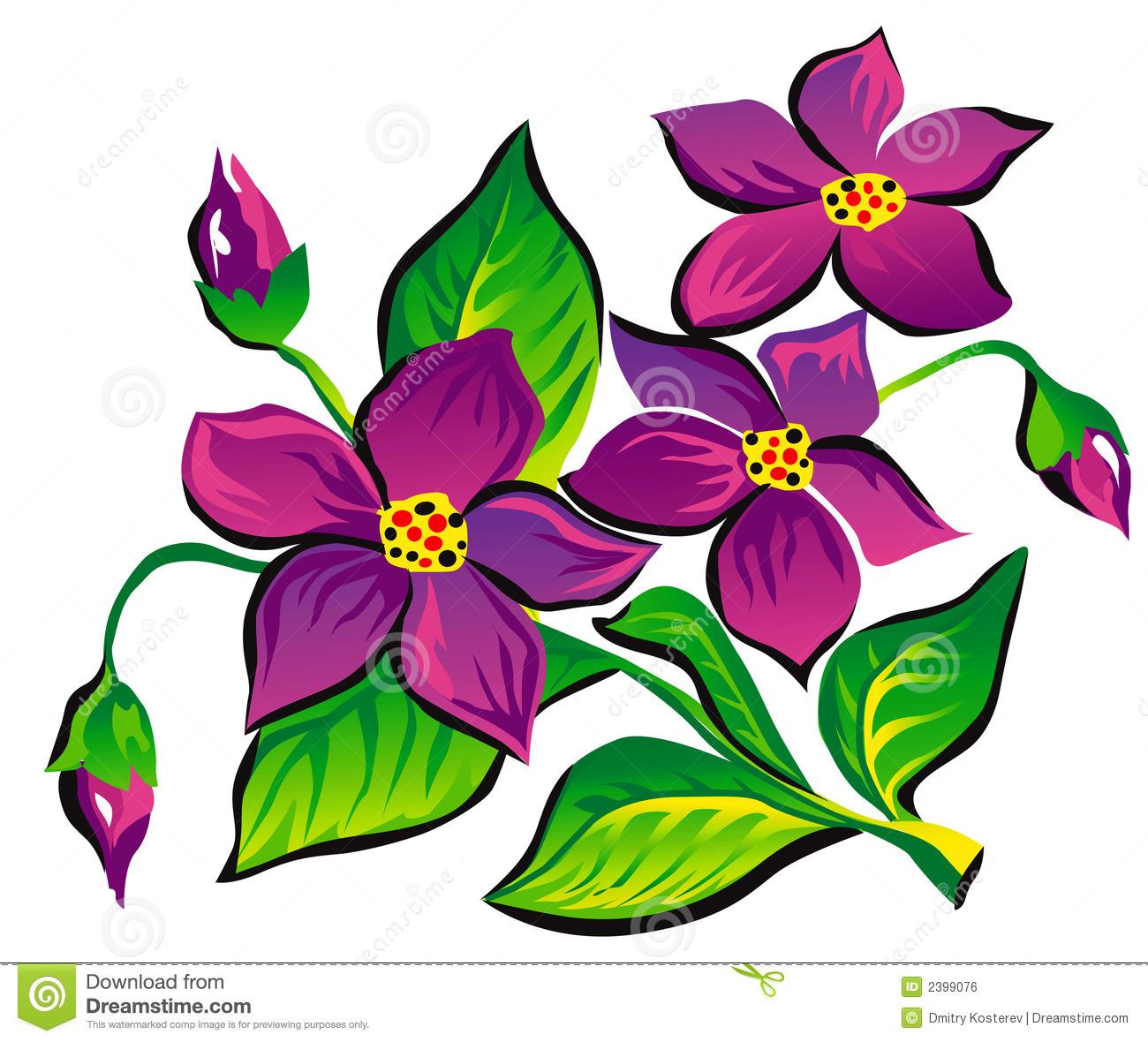 Violet Flower Clip Art Free