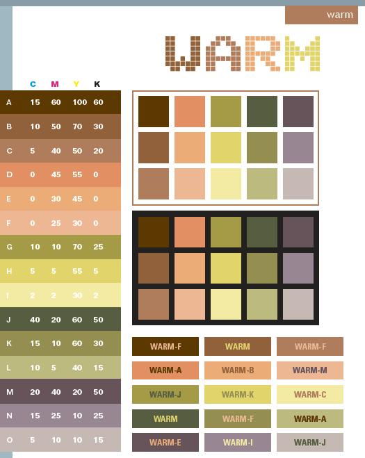 Warm Color Scheme Palette