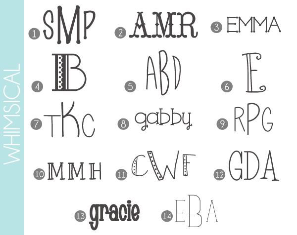 Whimsical Monogram Font