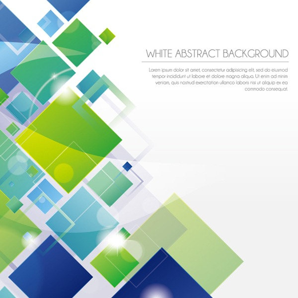 White Abstract Vector Graphics