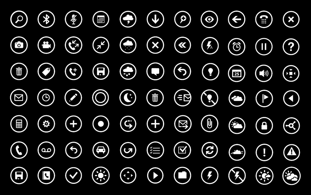 13 Metro App Bar Icons Images