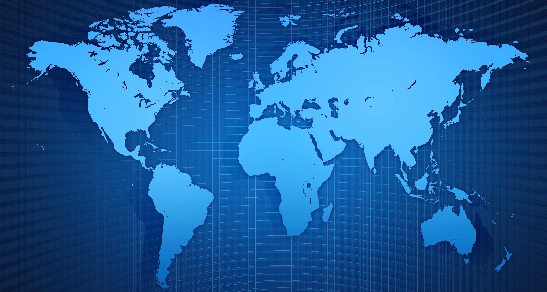 World Map Screensaver
