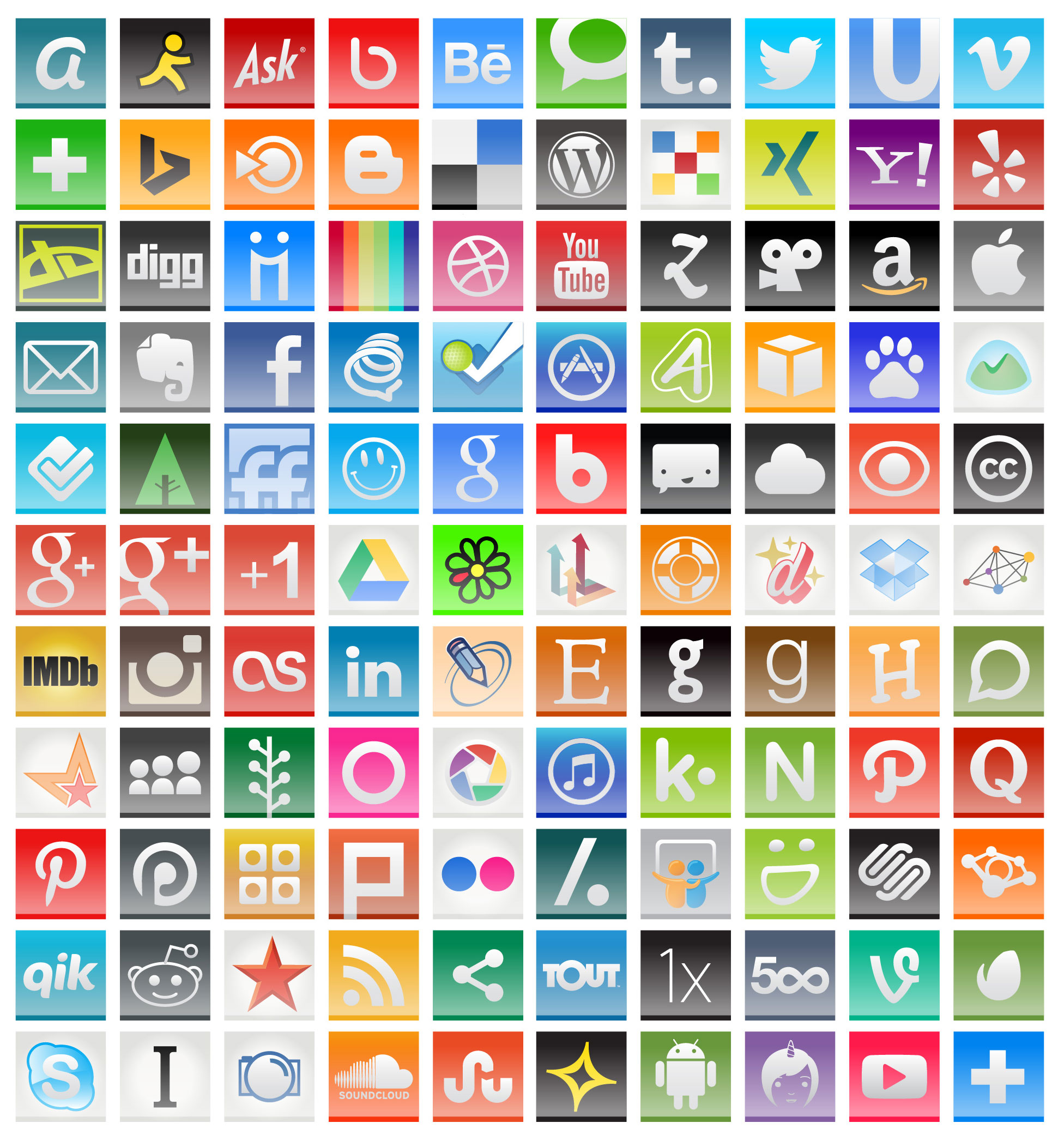 18 2014 Social Media Icons Images