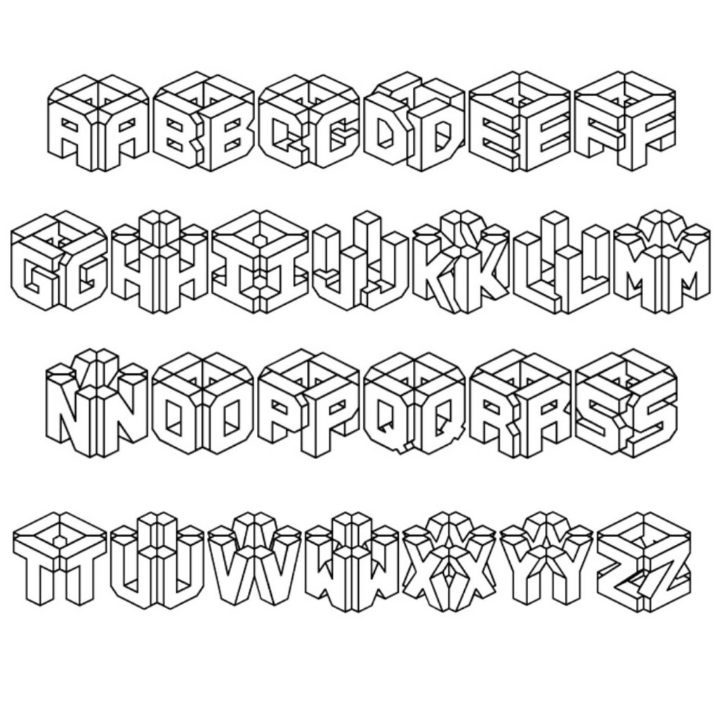 3d graffiti letter fonts