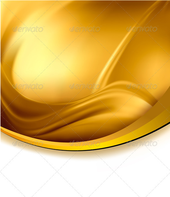 Abstract Gold Vector