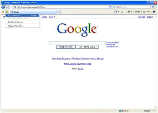 Add Favorites to Internet Explorer Icon