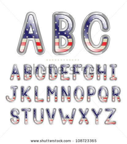 14 American Flag Font Generator Images