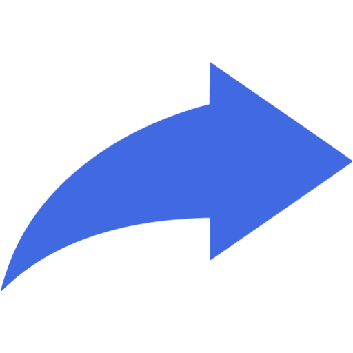 8 Blue Arrow Icon PNG Flat Images