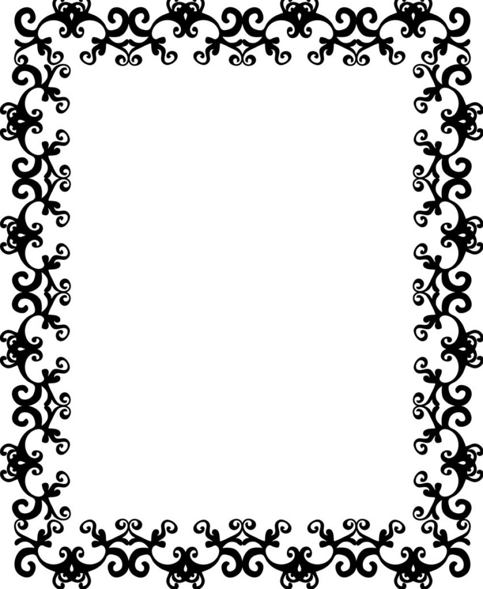 14 Black And White Border Designs Images