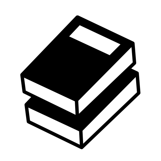 Black and White Education Icon