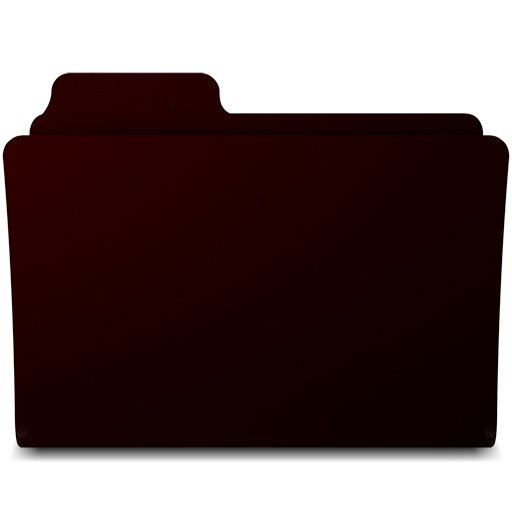 Black Mac Folder Icon