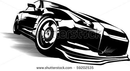 black sports car clipart - photo #13