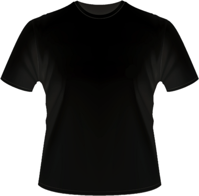 Black T-Shirt Template PSD