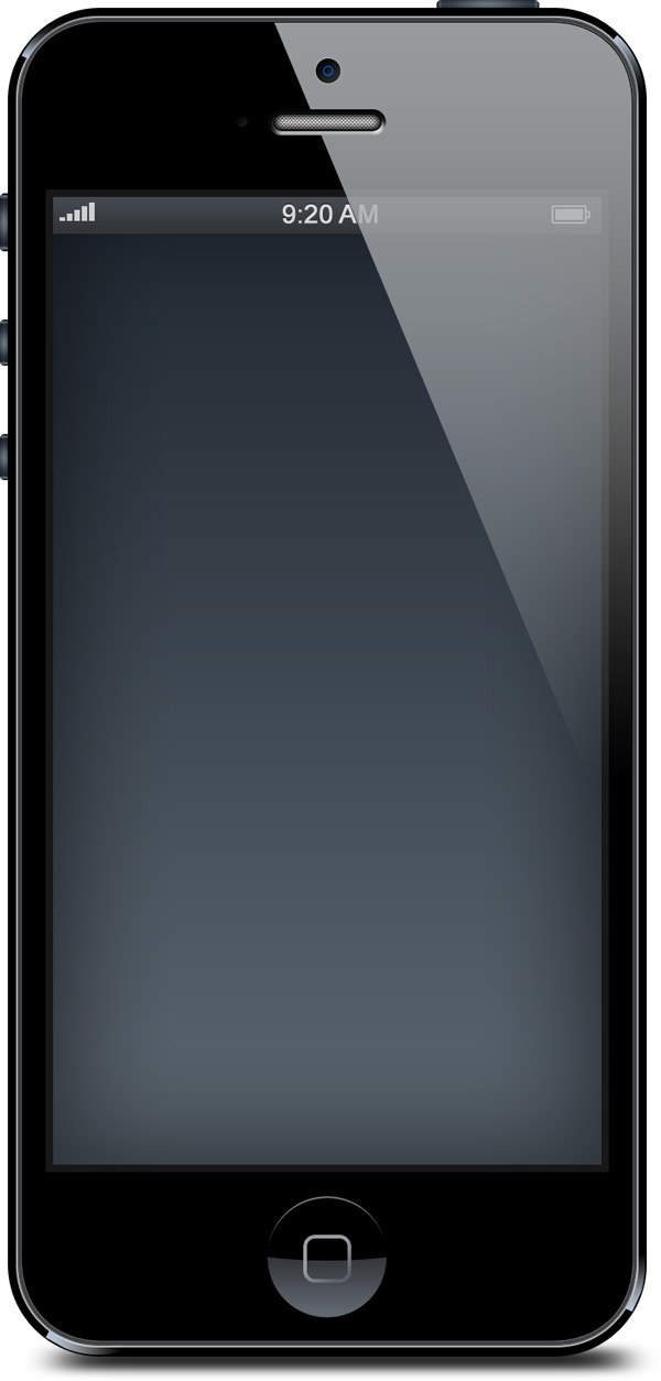 Blank iPhone Template