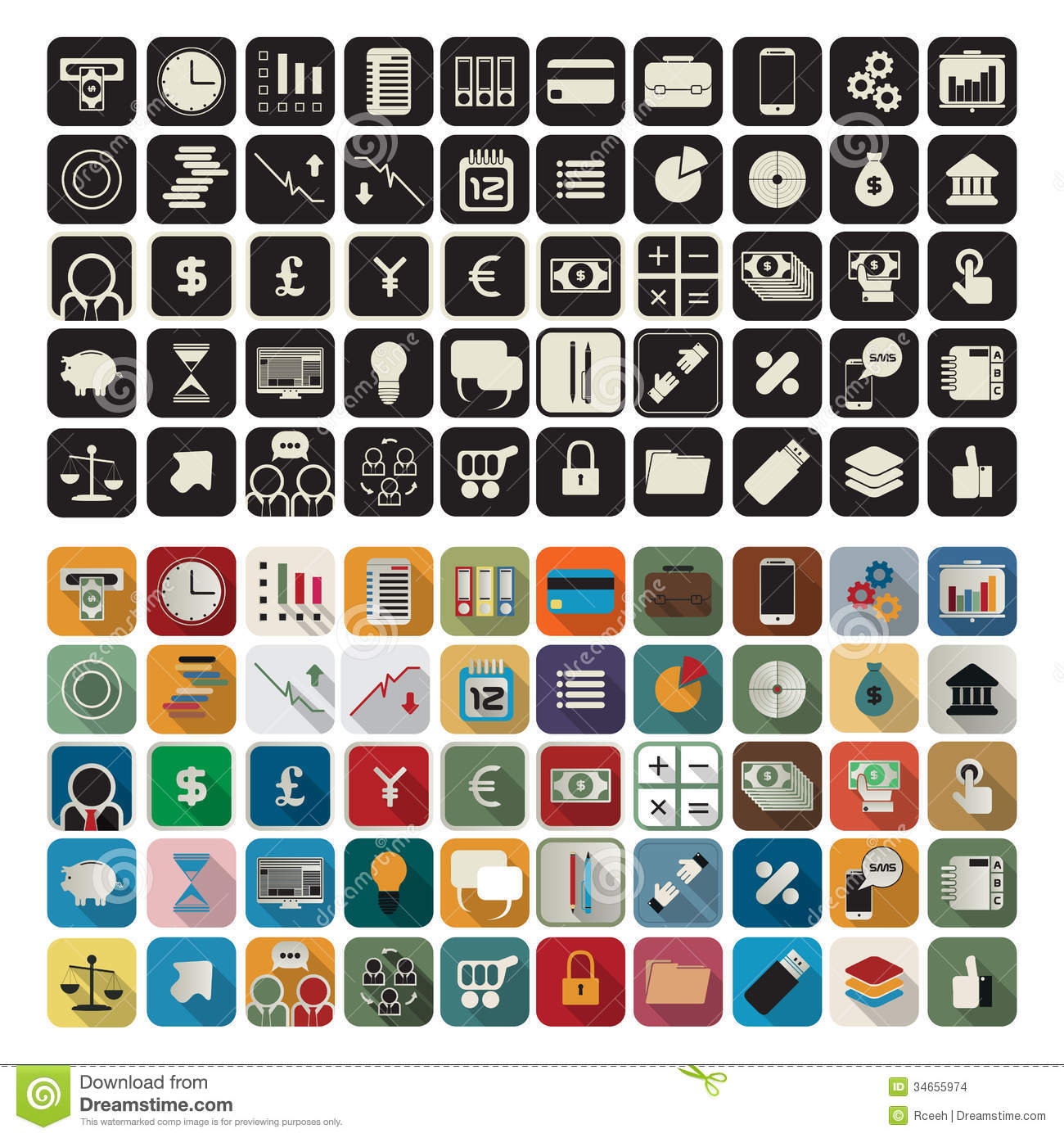 Business Application Icon Sets