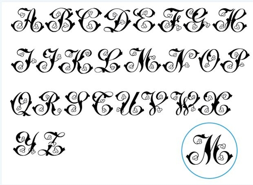 Calligraphy Fonts with Leaves