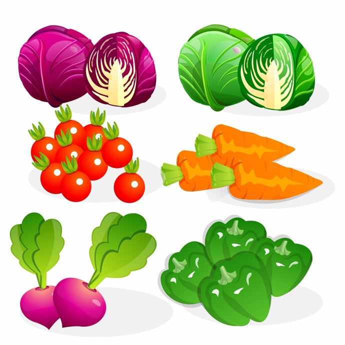 13 Vegetable Vector Free Images - Cartoon Vegetables ...