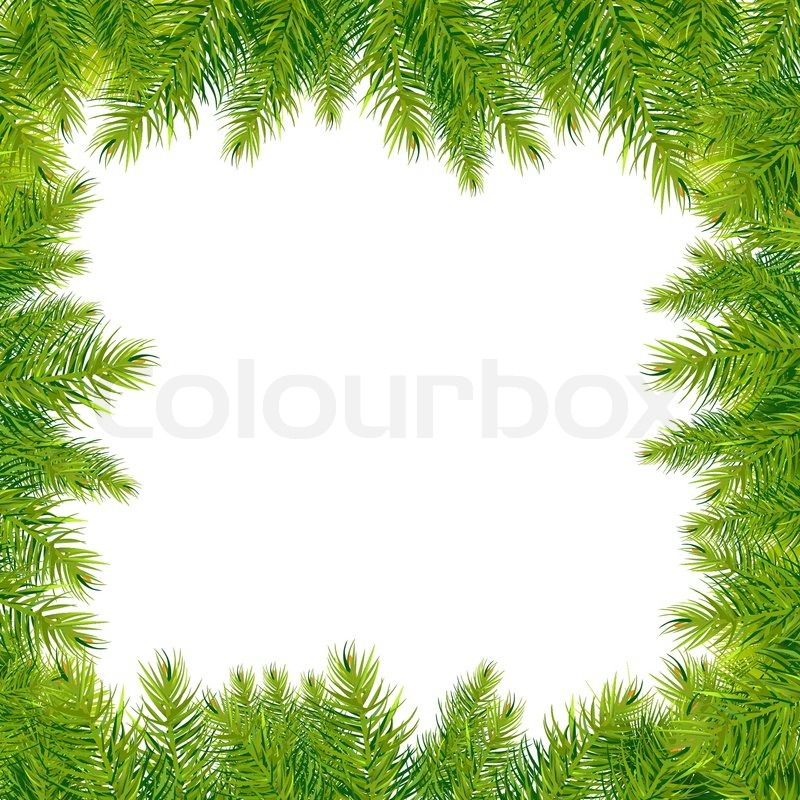 11 Christmas Tree Border Vector Images