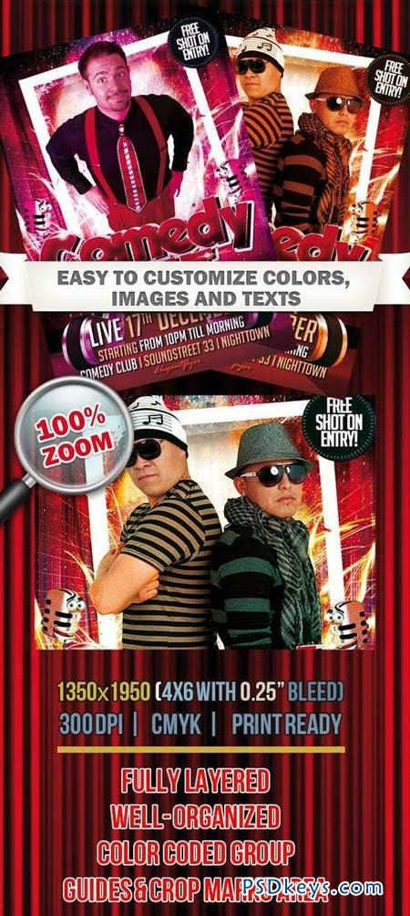 ... Flyer Template, Comedy Night Flyer Template Free and Comedy Night