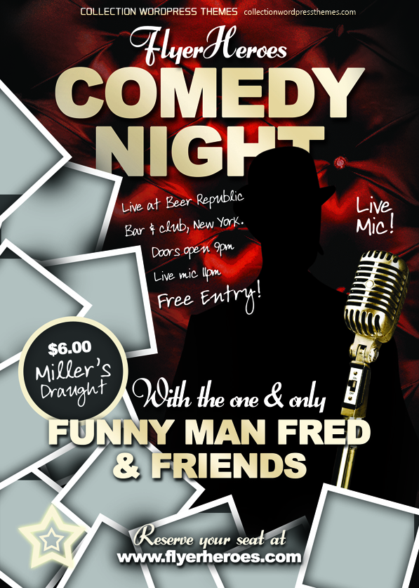 13 psd comedy flyers images comedy show flyer template