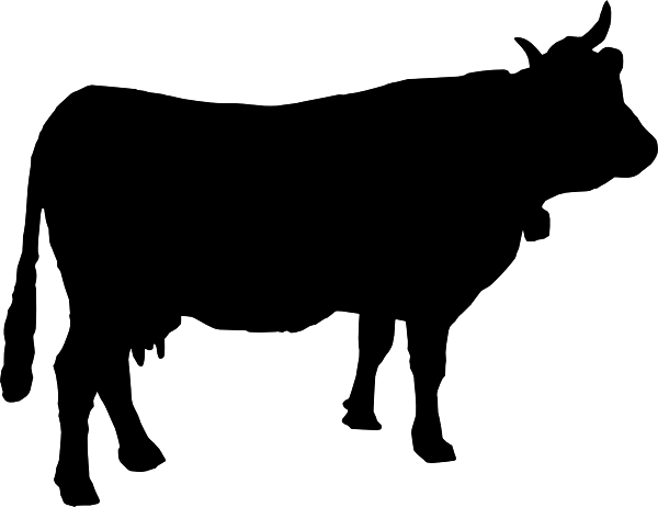 6 Cow Silhouette Vector Images