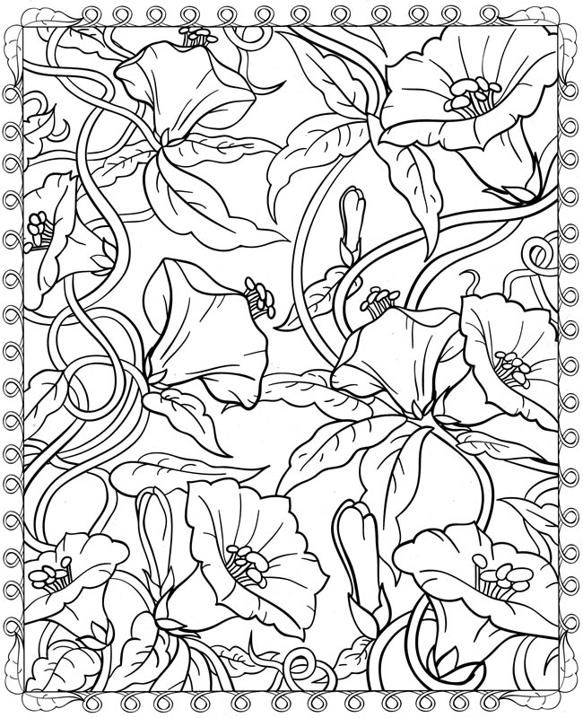 Dover Publications Free Coloring Pages Adult