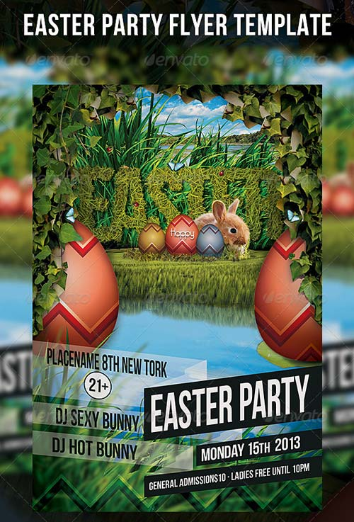 Easter Party Flyers Templates Free