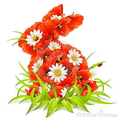 Easter Spring Flowers Vector