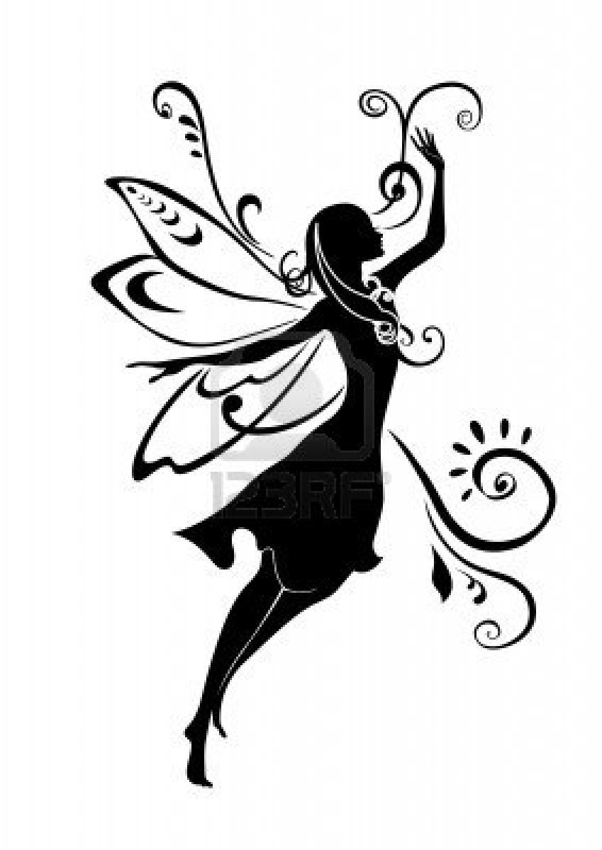 12 Fairy Silhouette Vector Art Images