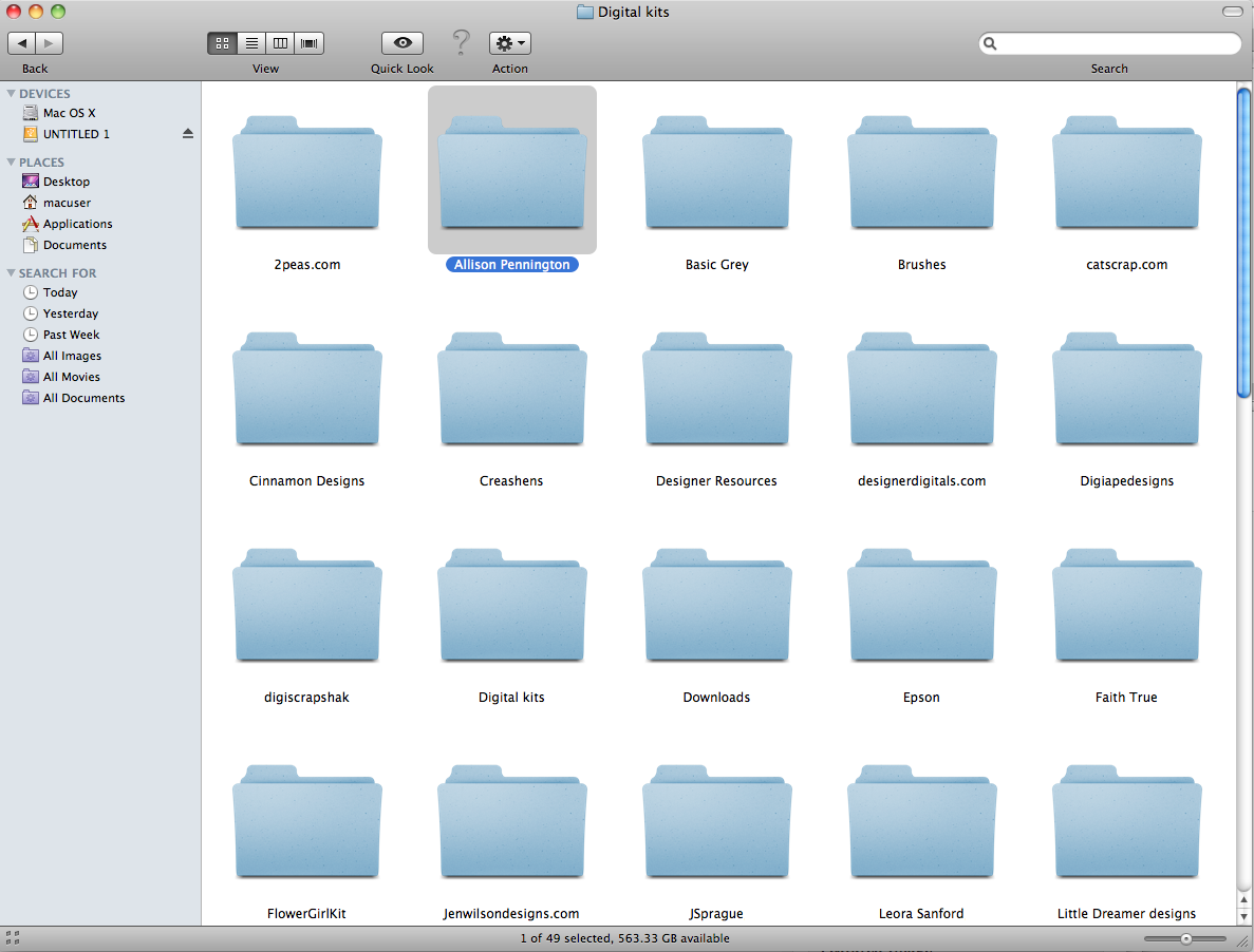 File Folder Icon Mac