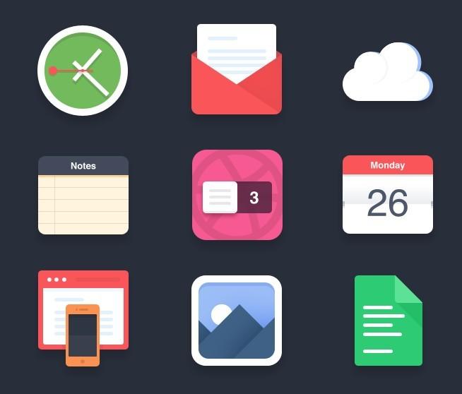 Flat App Icon Notebook