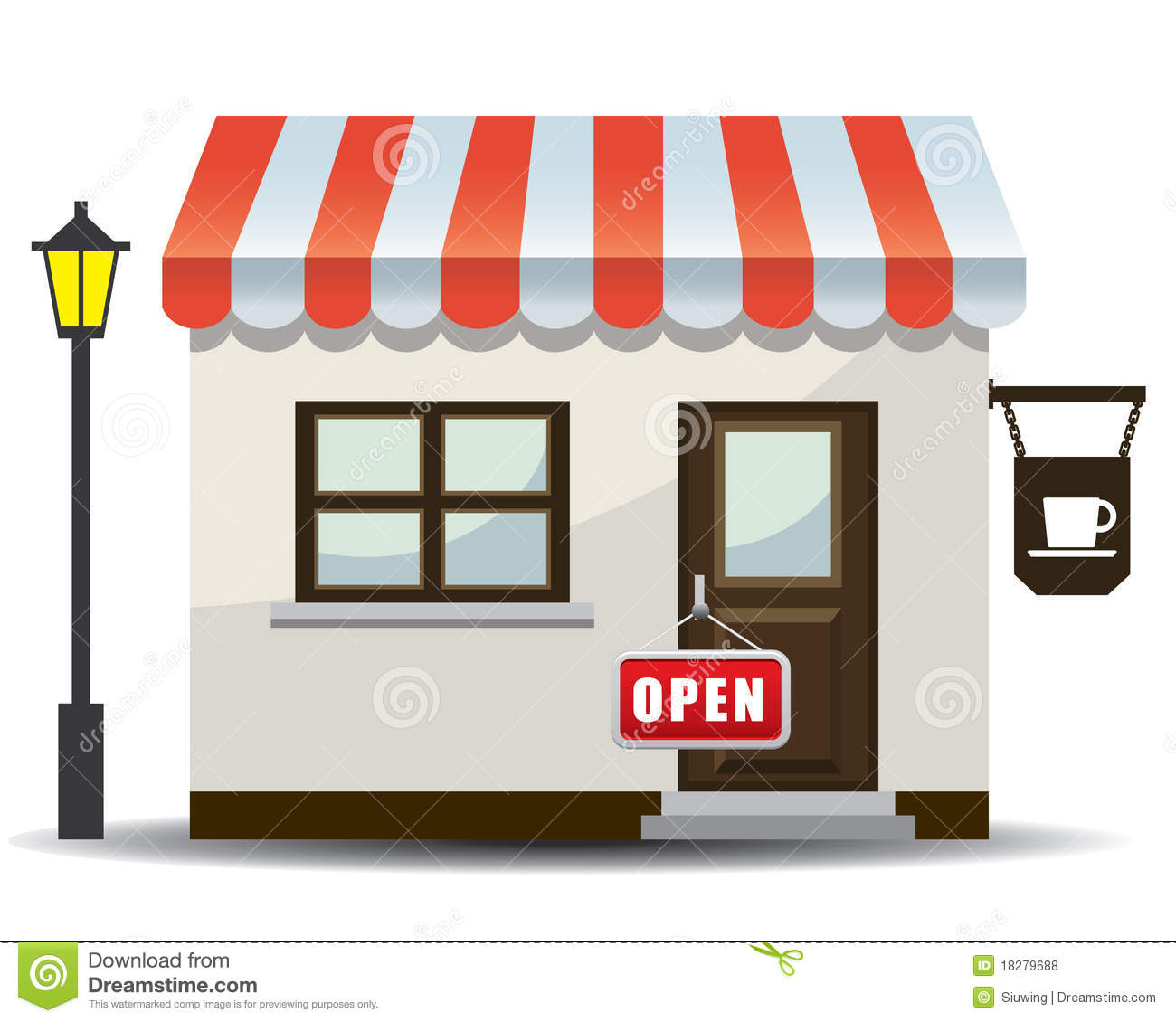 Restaurant building icon images small business