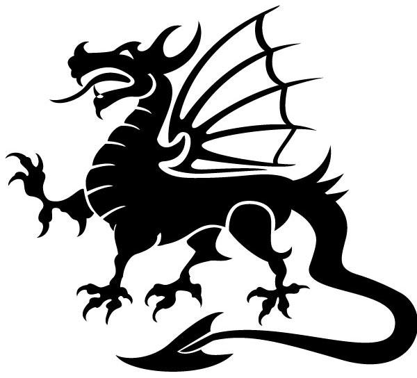 9 Dragon Vector Art Images