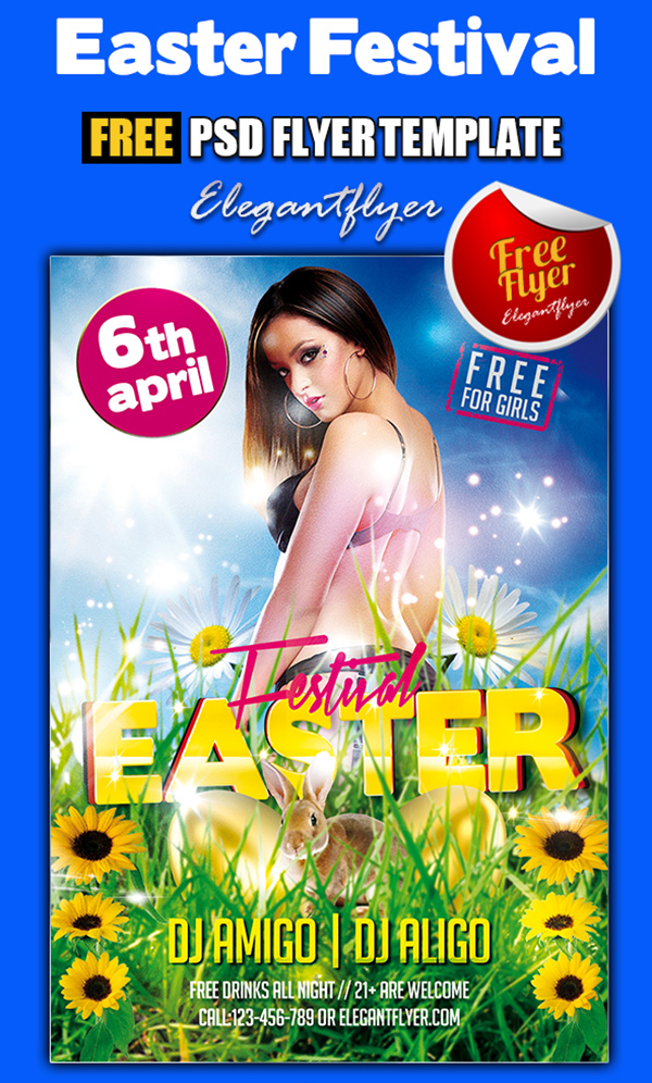 Free Easter Flyer PSD Templates
